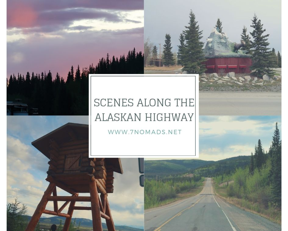 scenes along the alaskan highway